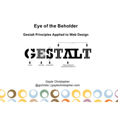 Gestalt Principles Applied to Web Design